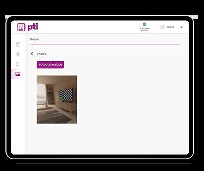 Met de werkbonnen app kan je foto's opslaan en materialen registreren